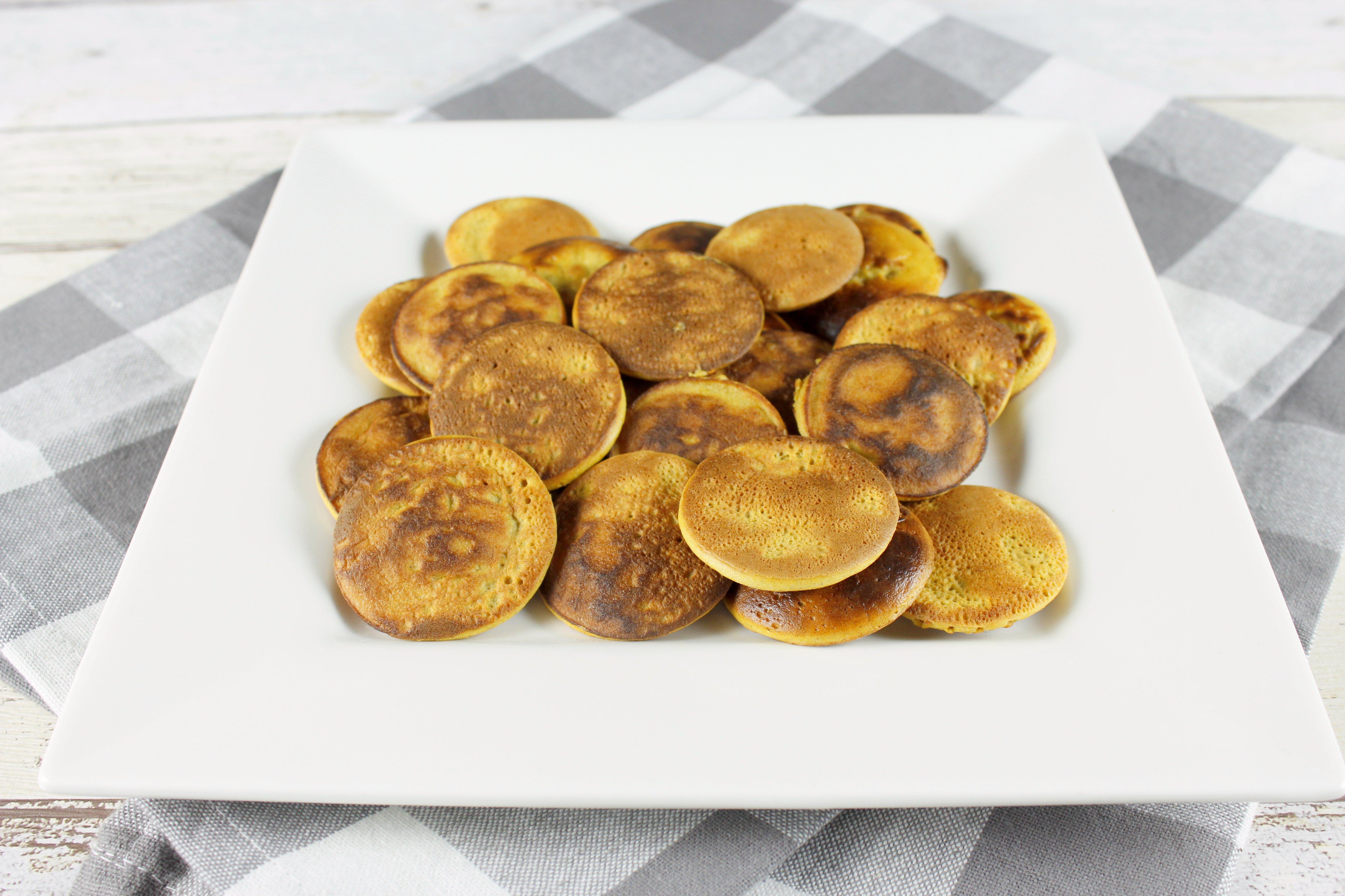 Zoete aardappel poffertjes 8